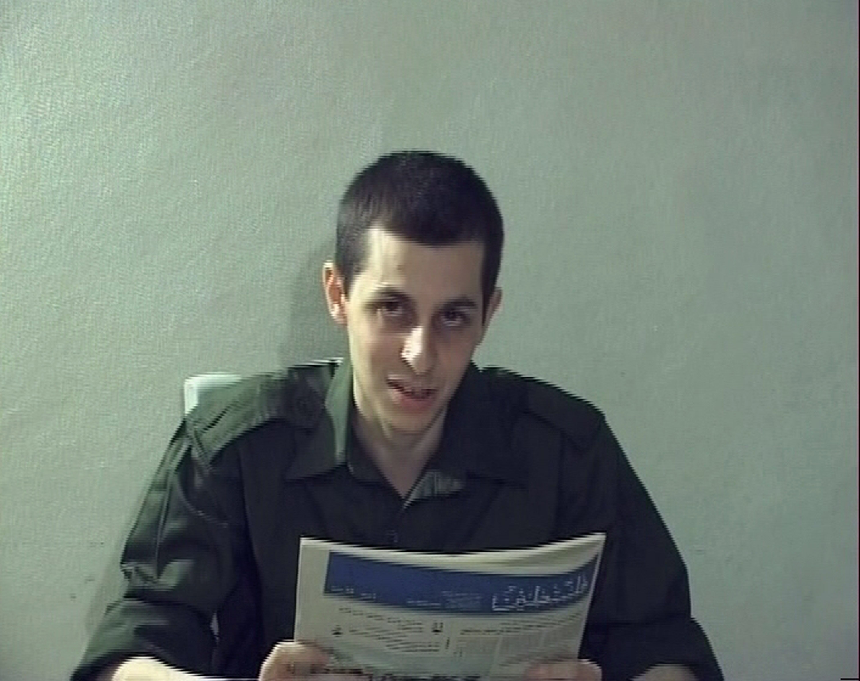 Still image from video released by Hamas of Gilad Shalit