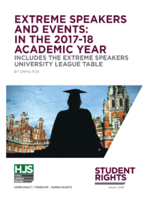 Extreme Speakers and Events: In The 2017-18 Academic Year